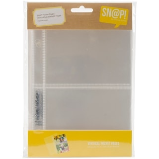 "Sn@p! Pocket Pages For 4""X6"" Binders 10/Pkg-(2) 3""X4"" Vertical Pockets"
