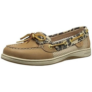 Sperry Womens Angelfish Leather Leopard Print Boat Shoes - 9 medium (b,m)