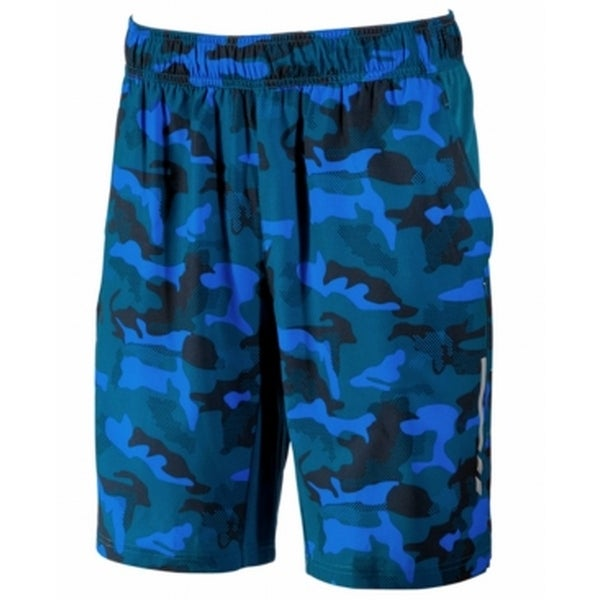 Ideology NEW Blue Mens Size Large L Camouflage Print Athletic Shorts