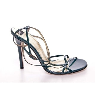 Dolce & Gabbana Green Leather Sandals Pumps Shoes - 39.5