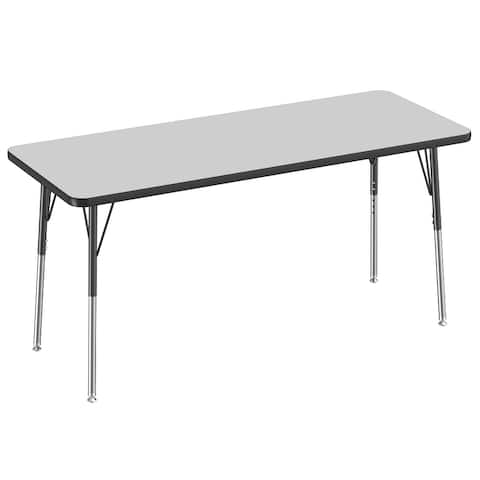 """24"""" x 60"""" Rectangle Activity Table with Adjustable Swivel Glide Legs"""