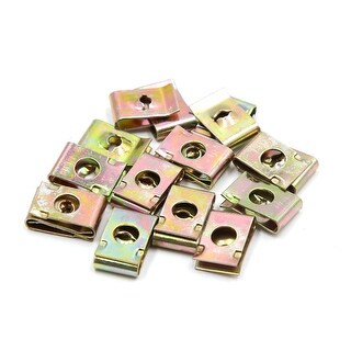 20Pcs Bronze Tone Metal Bolts U Type Speed Fastener Clips For Motorcycle