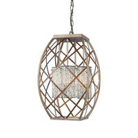 Woodbridge Lighting 12620VIN-WHT 4 Light Foyer Pendant with White Mosaic Glass from the Braid Collection