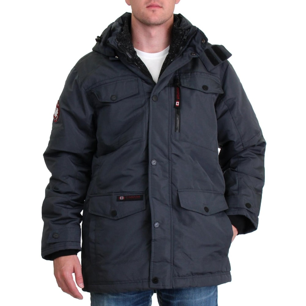 Superdry Gray Long Line Padded Parka With Faux Fur Hood