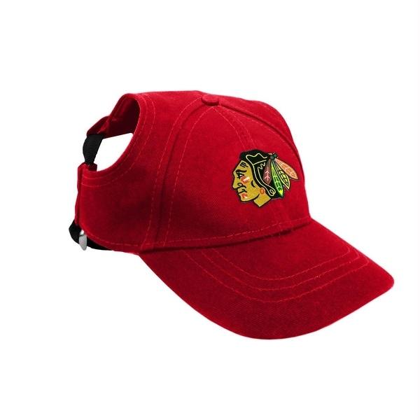 sale retailer 903a0 b66df Chicago Blackhawks Pet Baseball Hat - Medium