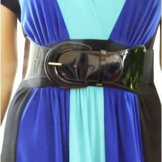 Funfash Plus Size Women Cinch Black Patent Leather Stretch Elastic Belt    Overstock.com Shopping - The Best Deals on Women\'s Belts