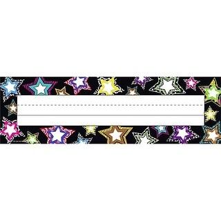 Fancy Stars Name Plates Flat