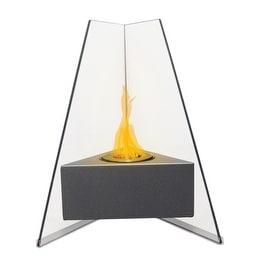Manhattan (High Gloss Grey) Table Top Bio Ethanol Ventless Fireplace