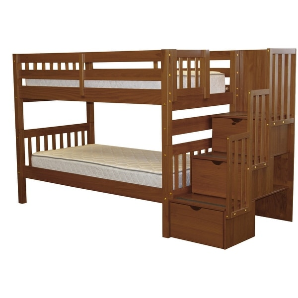 Taylor & Olive Trillium Twin-over-Twin Espresso Bunk Bed. Opens flyout.