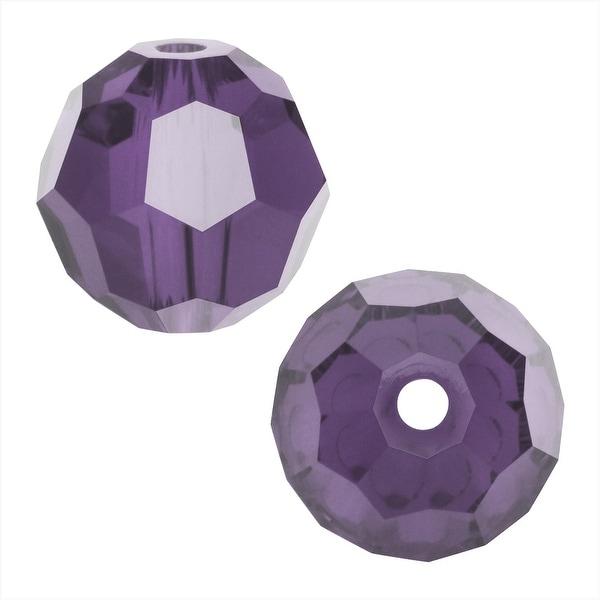 Swarovski Elements Crystal, 5000 Round Beads 4mm, 12 Pieces, Tanzanite Satin