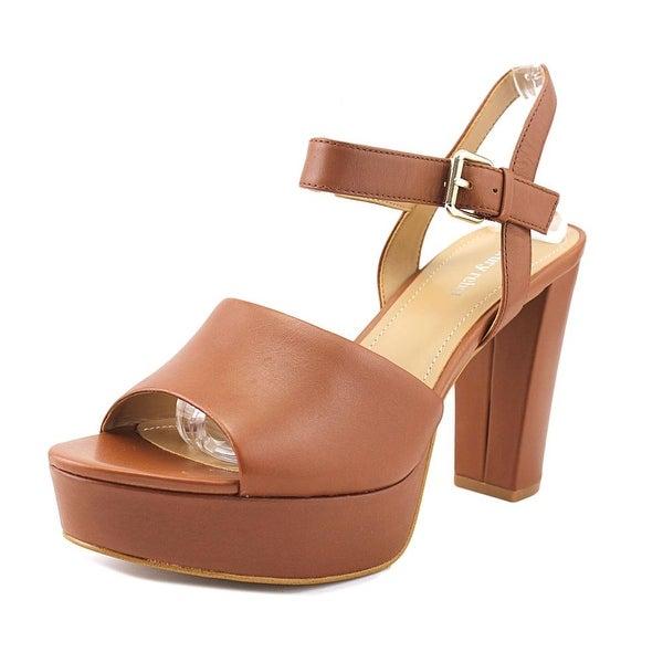 Luxury Rebel Emilia Women Open Toe Leather Brown Platform Sandal