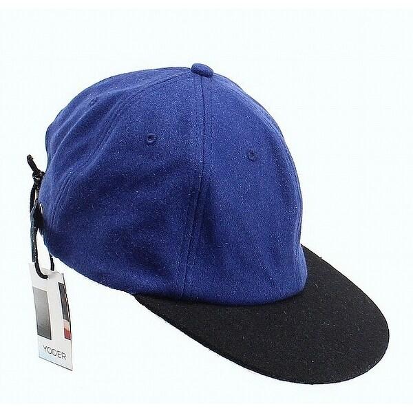 d8cb7b8a4 YODER NEW Blue Navy Wool blend Men's Size Adjustable Wooly Baseball Cap