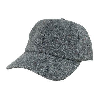 Wool Confetti Sparkle Unstructured Adjustable Strapback Dad Cap Hat by CapRobot - Grey