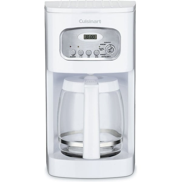 Cuisinart DCC-1100FR 12-Cup Programmable Coffeemaker, White, Certified Refurbished