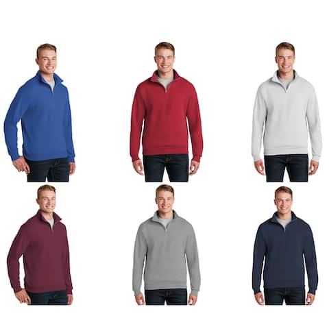 One Country United Men's 1/4 Zip Cadet Collar Sweatshirt