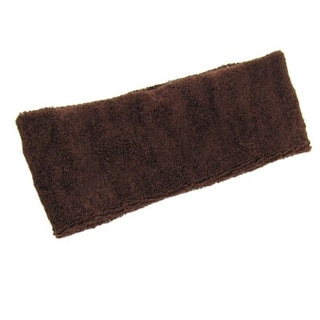 Unique Bargains Athletic Soft Sweatband Sports Chocolate Head Band New