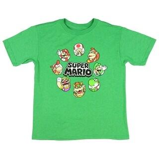 Nintendo Super Mario Circle Of Trust Boys' Character T-Shirt Licensed
