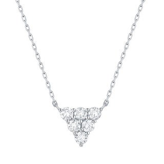 Smiling Rocks 0 34Ct G H VS1 Lab Grown Diamond Triangle Cluster Necklace