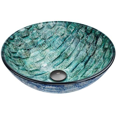 VIGO Russet Glass Vessel Bathroom Sink - Round