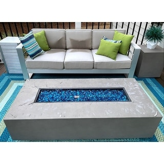 Cape Coral Outdoor Aluminum 7-seat Firepit Chat Set by Christopher Knight Home