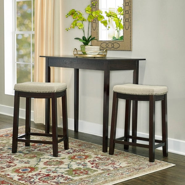 Copper Grove Willamette Linen Backless 26-in Counter Stool. Opens flyout.
