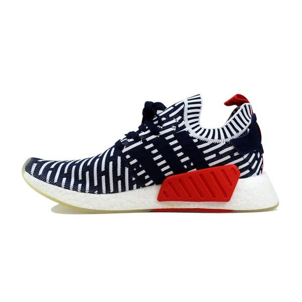 Shop Adidas Men S Nmd R2 Primeknit Navy White Red Roni Bb2909