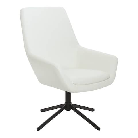 Swivel Office Chair with Black Nylon Base