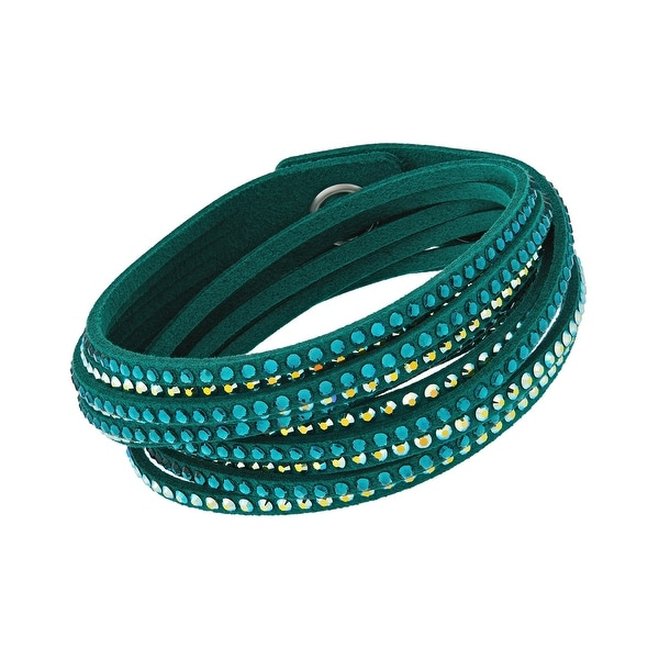 Shop Swarovski elements Slake 5064290 Emerald Green Alcantara Bracelet w   Mixed Cyrstals - Emerald Green - Free Shipping On Orders Over  45 -  Overstock - ... f956d314a0