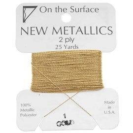 BeadSmith Metallic Thread - Gold Tone 2 Ply Thread For Embellishments 25 Yd
