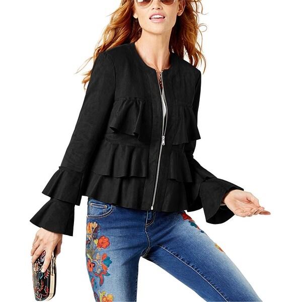 I-N-C Womens Ruffled Jacket. Opens flyout.