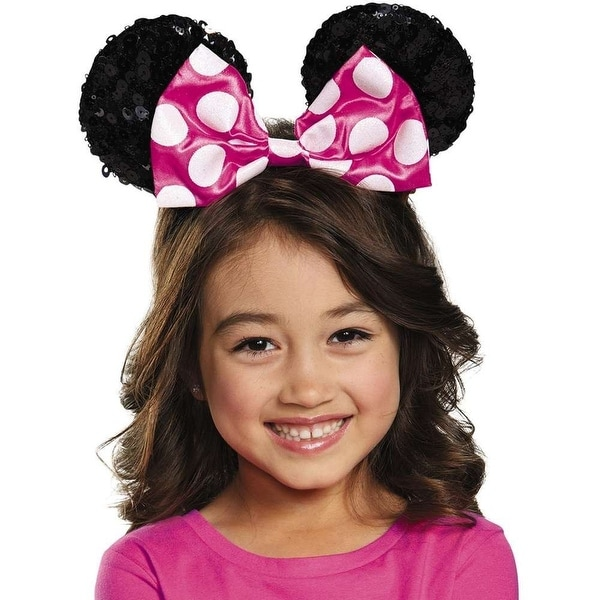 Disney Minnie Mouse Child Sequin Costume Ears Pink