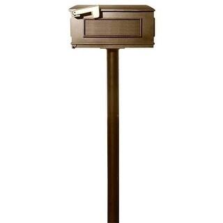 The Hanford Single Lewiston Mailbox Post System - Bronze - 70 x 8