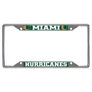 "University of Miami License Plate Frame - 6"" x 12"""