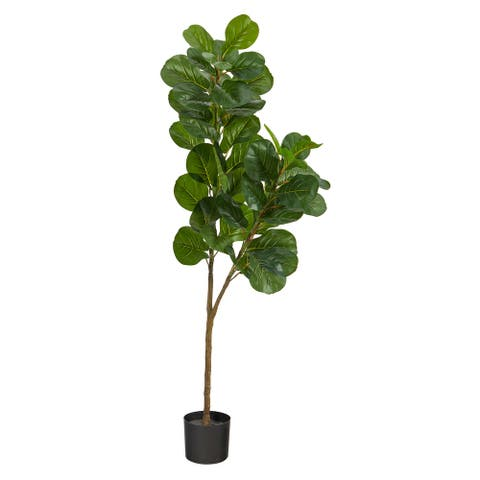 "5.5' Fiddle Leaf Fig Artificial Tree - 6"""