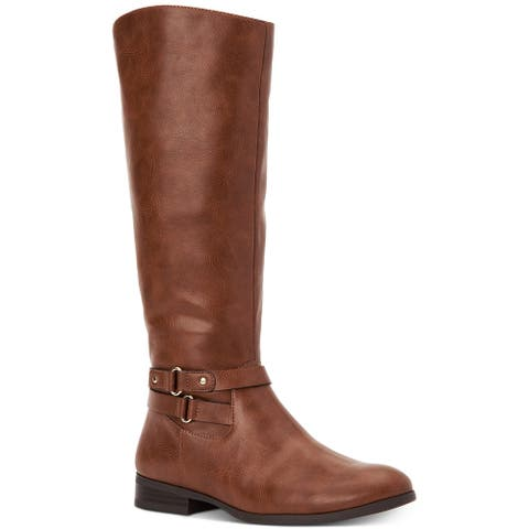 Style & Co. KINDELL Wide-Calf Tall Boots Bourbon Size 8M - 8
