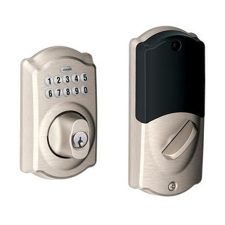 Schlage BE369NXCAM Camelot Keypad Electronic Deadbolt with Z-Wave Technology