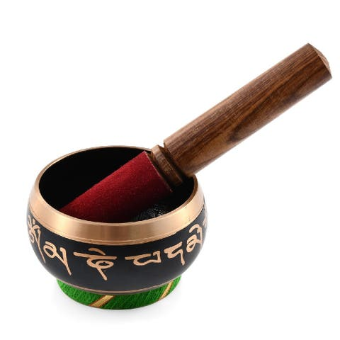 Bronze Tibetan Inspired Singing Meditation Bowl Stand Stress Relief - Medium