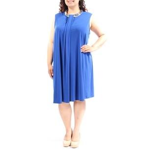 CALVIN KLEIN $129 Womens 1057 Blue Sleeveless Shift Casual Dress Plus 20W B+B