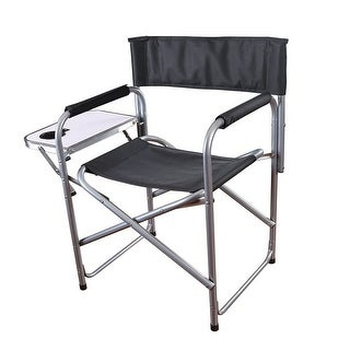 Stansport Folding Directoru0027s Chair With Side Table