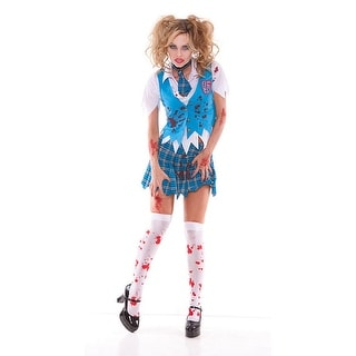 Sexy High School Specter Girl Bloody Costume Adult Large 10-14,Medium 6-10,Small 2-6,X-Large 14-16