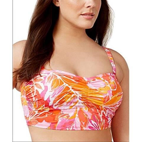 LAUREN Ralph Lauren Plus Women's Lush Tropical-Print Crop Bikini Top, 20W
