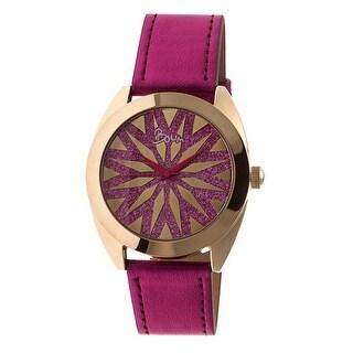 Boum Etoile Women's Quartz Watch, Genuine Leather Band