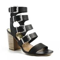 Dolce Vita Womens Black Open Toe Heels Size 6