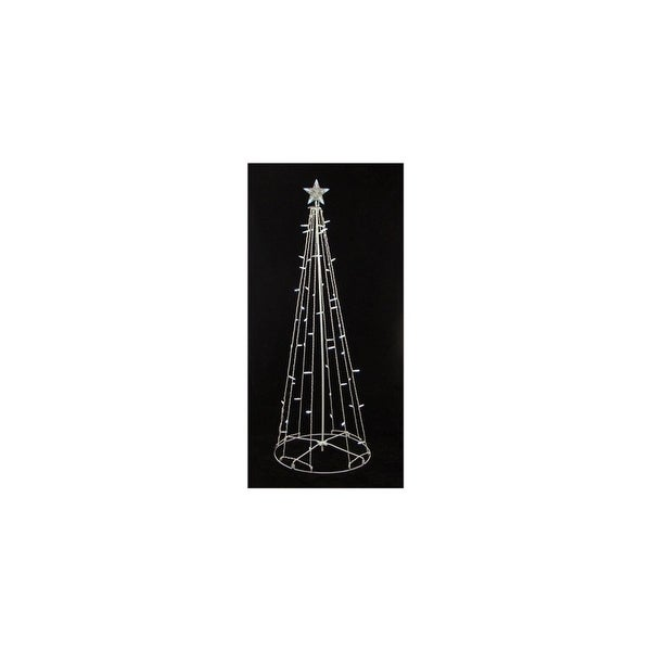 9' Lighted Outdoor Christmas Show Cone Tree Outdoor Decoration - Clear Lights - WHITE
