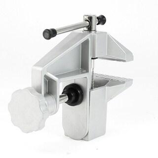 Unique Bargains 35mm Table Bench Clamp Silver Tone Aluminum Alloy Miniature Vice