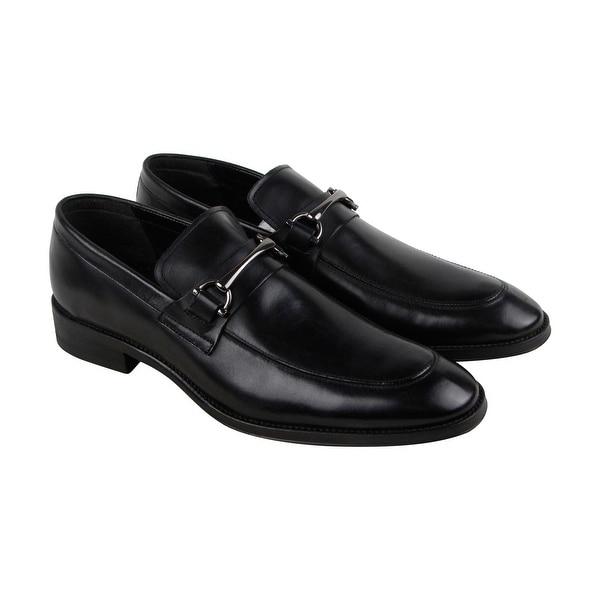 Kenneth Cole New York Gather-Ing Mens Black Casual Dress Oxfords Shoes