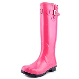 Joules Field Welly Women Round Toe Synthetic Pink Rain Boot