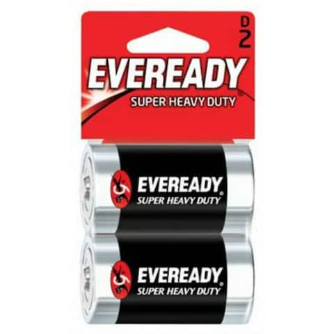 Eveready 1250SW-2 Super Heavy Duty D Battery, 2-Pack