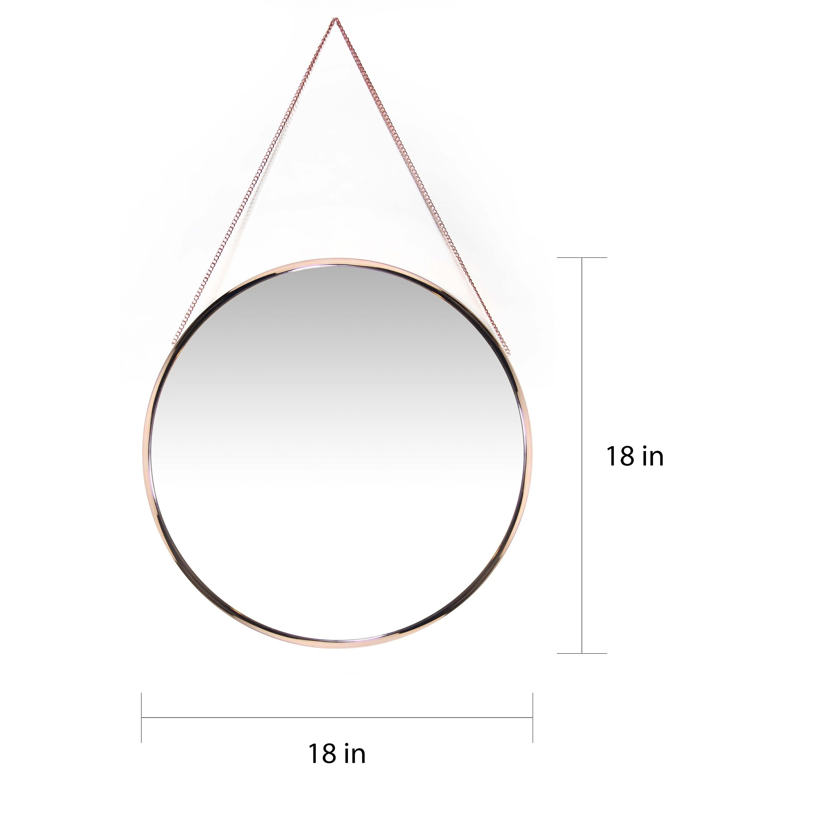 Shop Carson Carrington Kabbo Pink Rose Gold Round Wall Mirror Gold Copper 19 X 21 X 3 Overstock 18077948