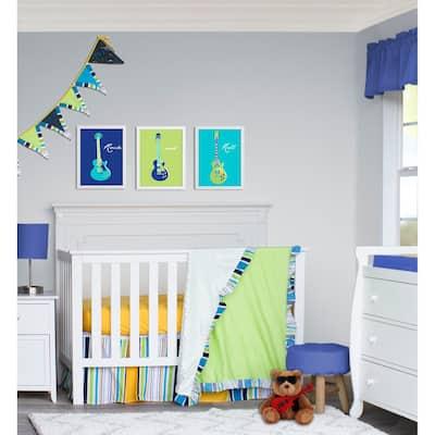 Pam Grace Creations Rock Star 4-Piece Crib Bedding Set